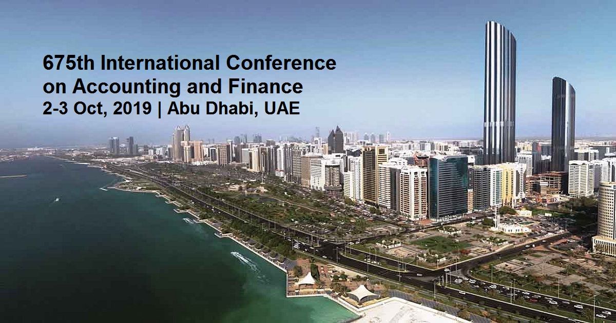 675th International Conference on Accounting and Finance