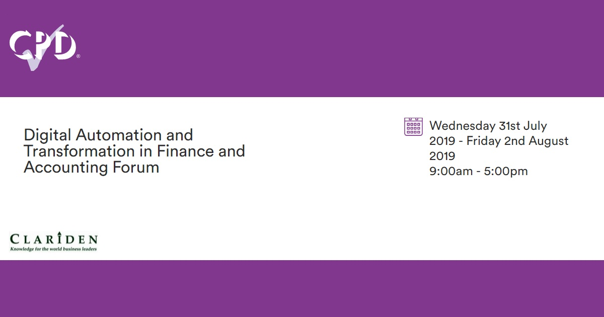 Digital Automation and Transformation in Finance and Accounting Forum