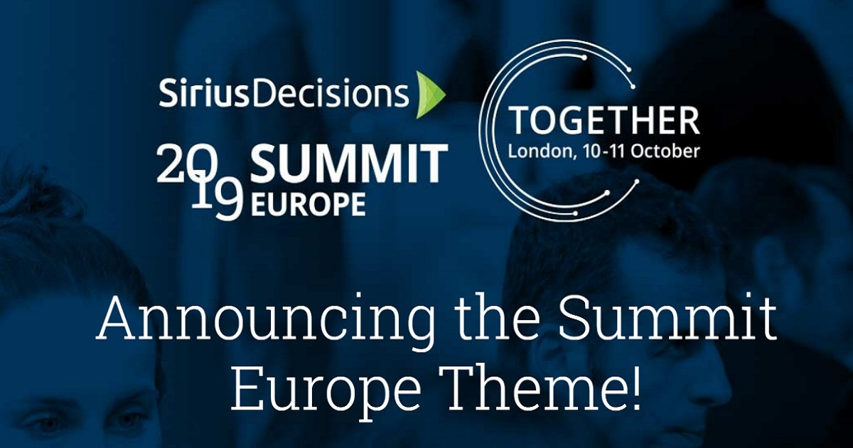 SiriusDecisions Summit Europe