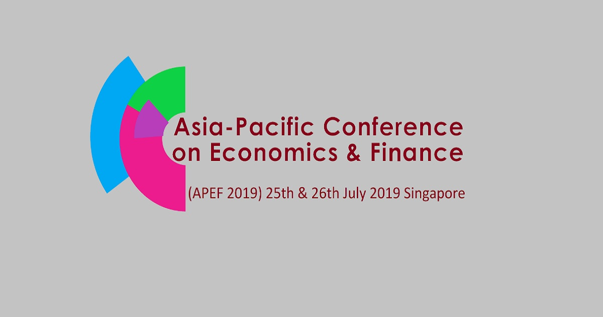 2019 Asia-Pacific Conference on Economics & Finance (APEF 2019)