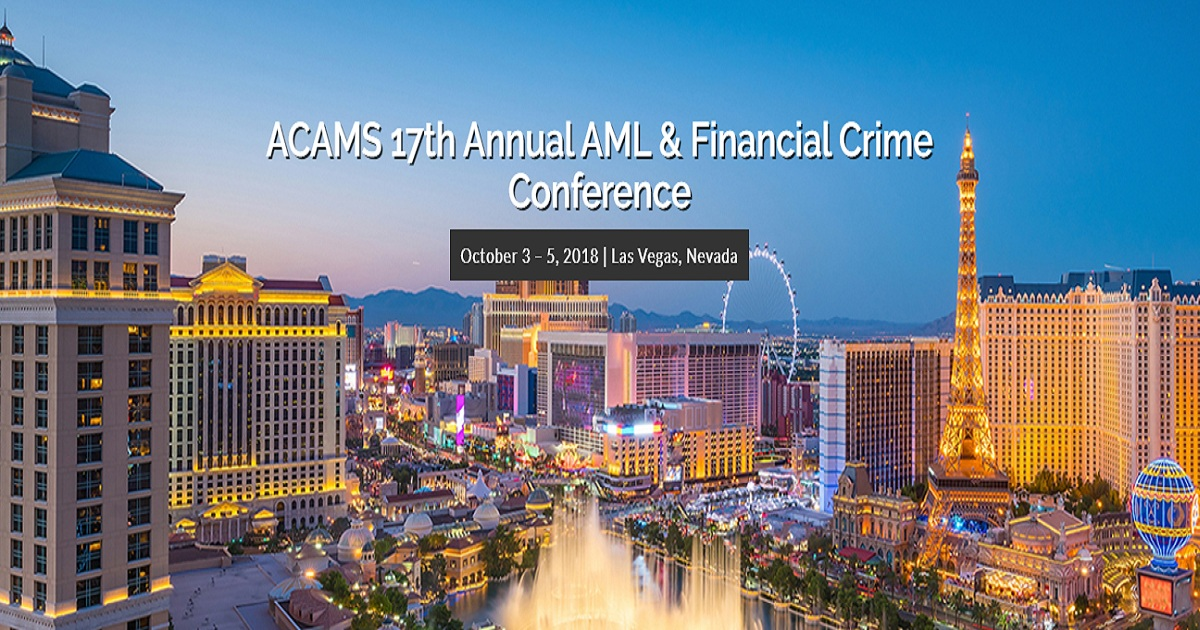 ACAMS 17Th Annual AML & Financial Crime Conference | October
