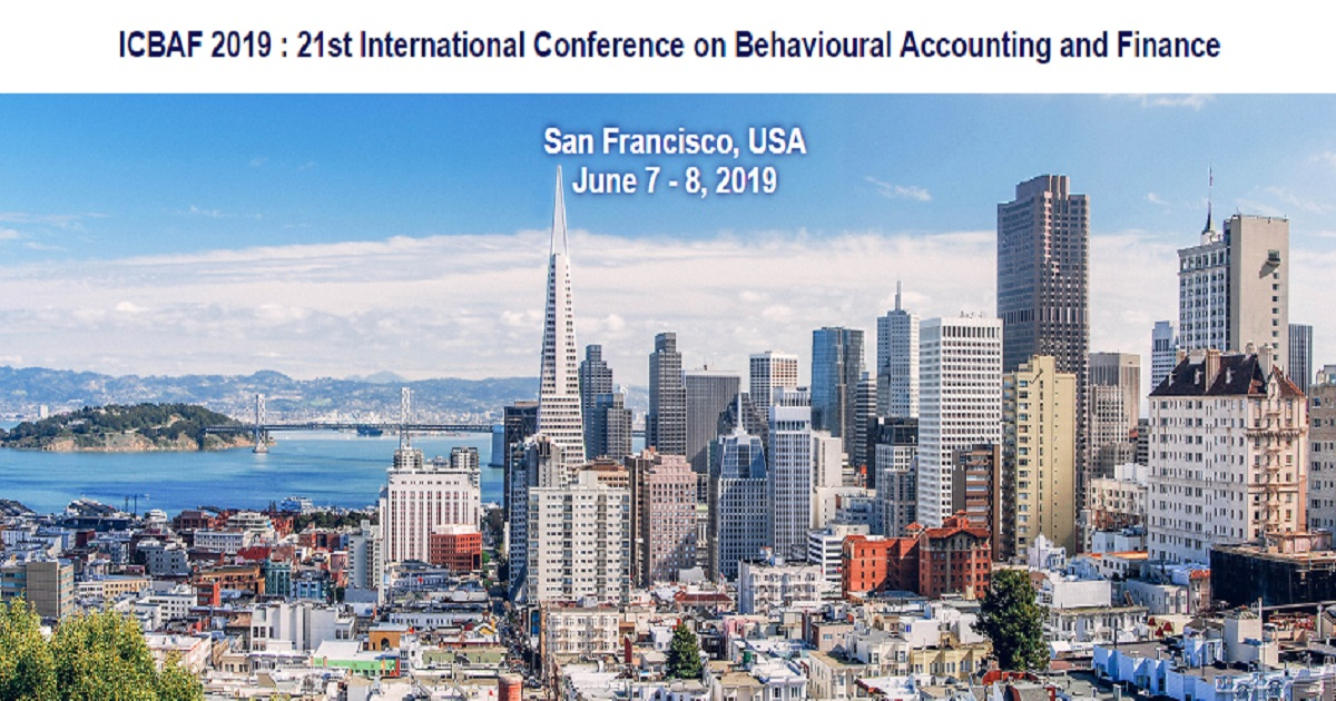 ICBAF 2019 : 21st International Conference on Behavioural Accounting and Finance