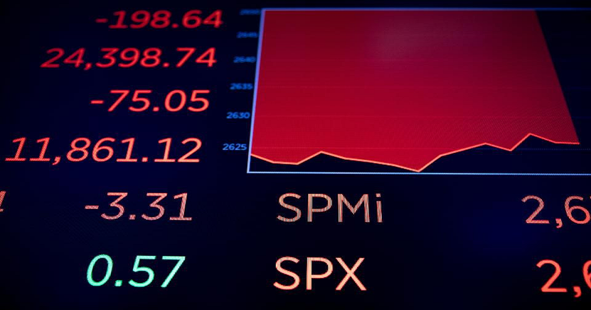 Stock Market Now In Red Zone; Emotional Onslaught Is Near