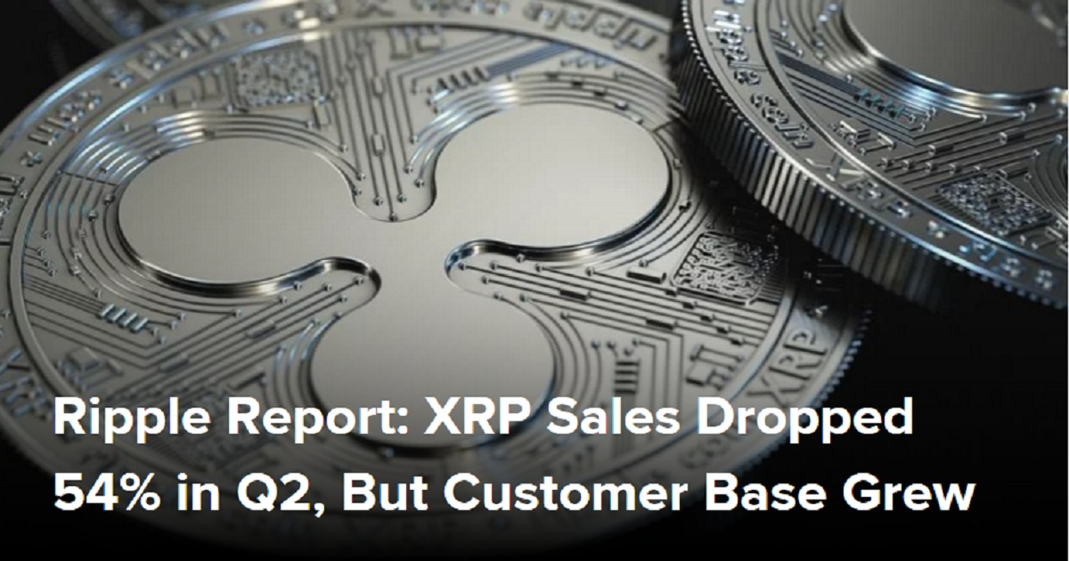 Ripple Report: XRP Sales Dropped 54% in Q2, But Customer Base Grew