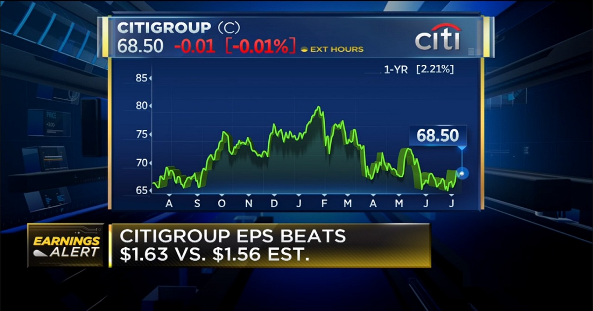 Citigroup shares slide on second-quarter revenue miss as deposits and trading results fall short